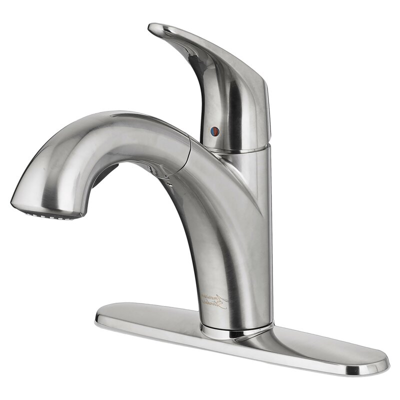 American Standard Colony Pro Pull Out Single Handle Kitchen Faucet Wayfair