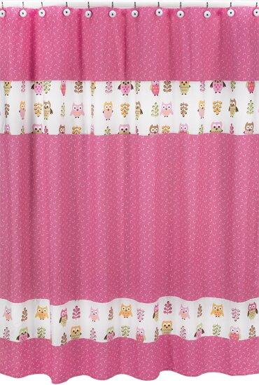 Happy Owl Cotton Shower Curtain by Sweet Jojo Designs