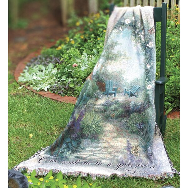 Morning Butterfly Tapestry Cotton Throw by Manual Woodworkers & Weavers