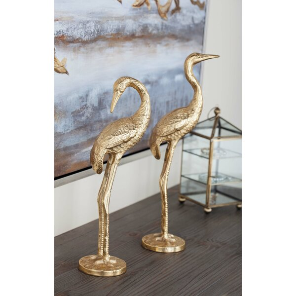 Aluminum Flamingo 2 Piece Figurine Set by Cole & Grey