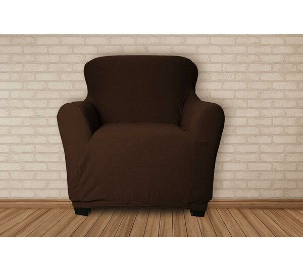 Stretch Velvet T-Cushion Armchair Slipcover by Symple Stuff