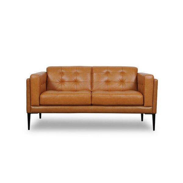Compare Price Dwayne Genuine Leather Loveseat