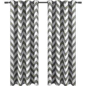 Cardenas Chevron Blackout Thermal Grommet Window scarf (Set of 2)