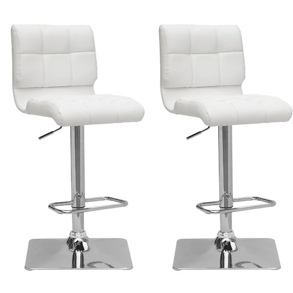 Burnham Adjustable Height Swivel Bar Stool (Set of 2) by Wade Logan