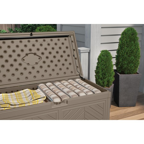 Outdoor 80 Gallon Resin Plastic Deck Box by Suncast Suncast