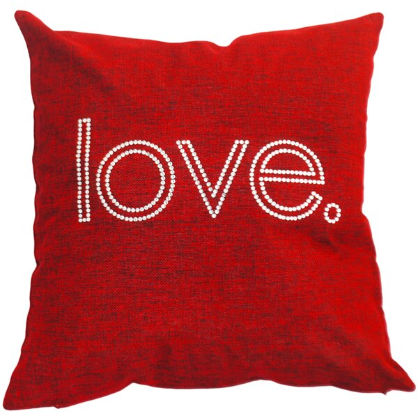 Love. Throw Pillow by Sparkles Home