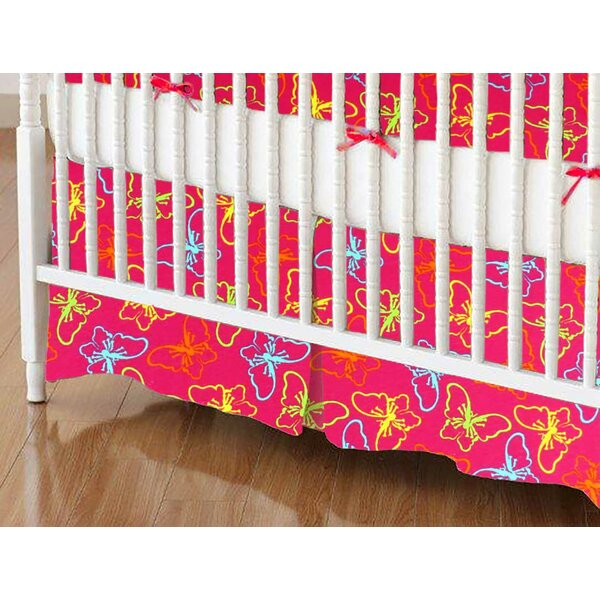 Butterflies Crib Skirt by Sheetworld