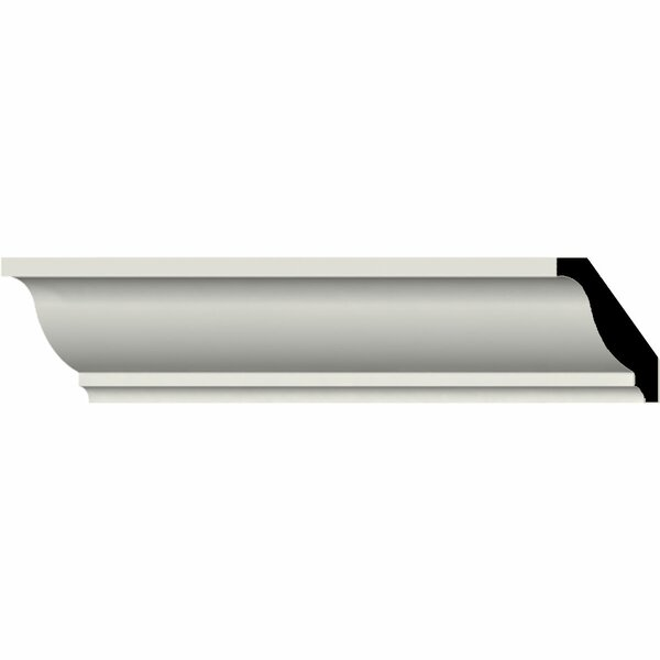 Odessa 1 5/8H x 94 1/2W x 1 5/8D Smooth Crown Moulding by Ekena Millwork