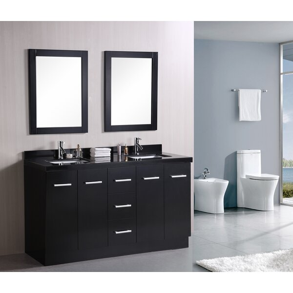 Ridge 60 Double Bathroom Vanity Set by Home Loft Concepts
