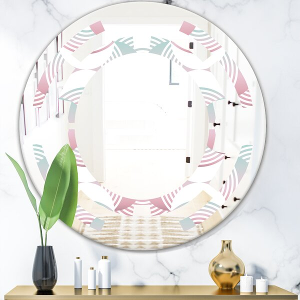 Geometrical Abstract Pattern I Space Modern Frameless Wall Mirror