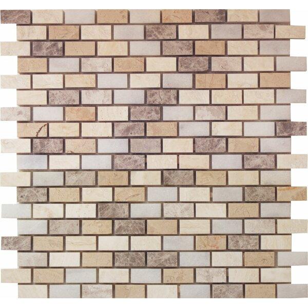 0.63 x 1.25 Marble Mosaic Tile in Indigo Soul by Ephesus Stones