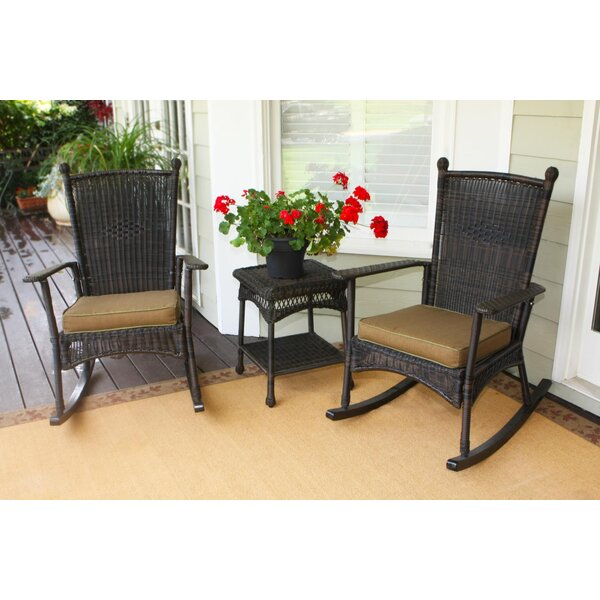 Ray 3 Piece Rattan with Cushions by Alcott Hill