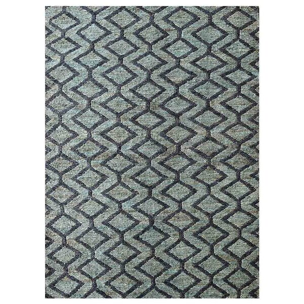 Ry Hand-Knotted Green/Charcoal Indoor/Outdoor Area Rug by Latitude Run