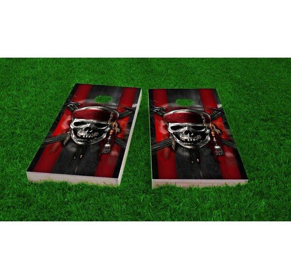 Pirate Theme Cornhole Game Set by Custom Cornhole Boards
