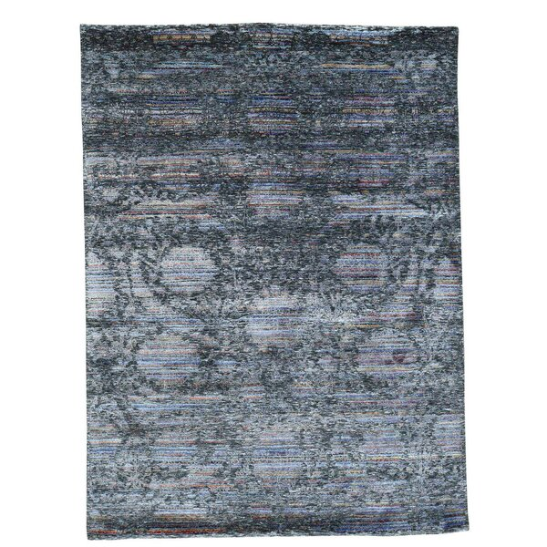 One-Of-A-Kind Orionis Hand-Knotted Gray Area Rug By One Allium Way.