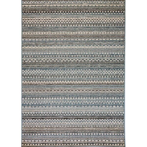 Pennock Beige/Blue Indoor/Outdoor Area Rug by Union Rustic