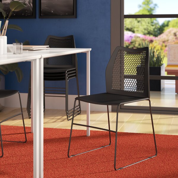 Flora Sled Base Stackable Side Chair Guest Chair by Zipcode Design