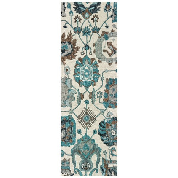 Jules Hand-Knotted Wool Ivory/Blue Rug