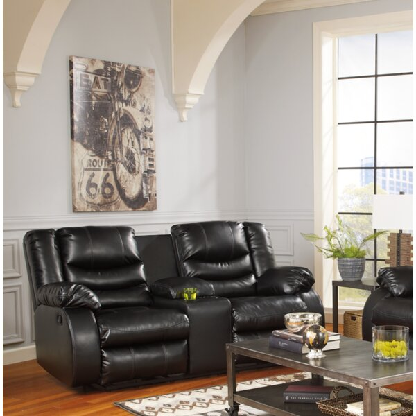 Cute Style Sia Reclining Loveseat with Console by Red Barrel Studio by Red Barrel Studio