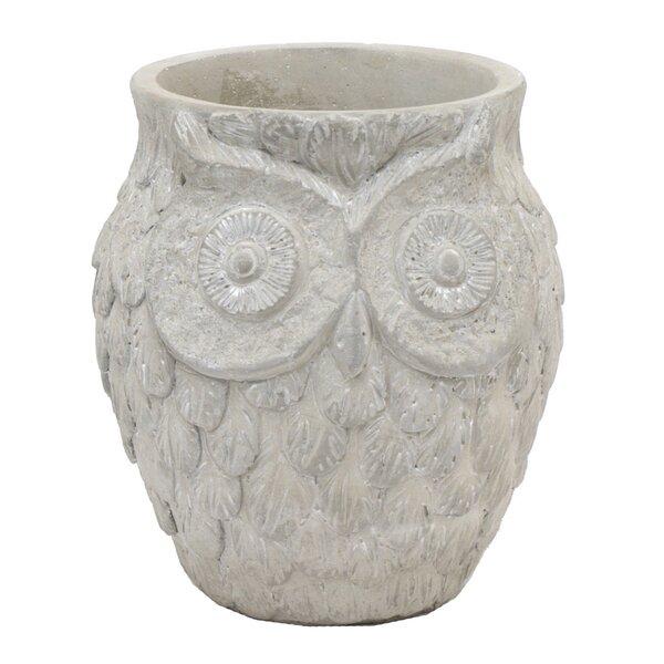 Owl Ceramic Pot Planter by Three Hands Co.