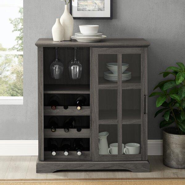 Hartwick Sliding Glass Door Bar With Wine Storage By Red Barrel Studio