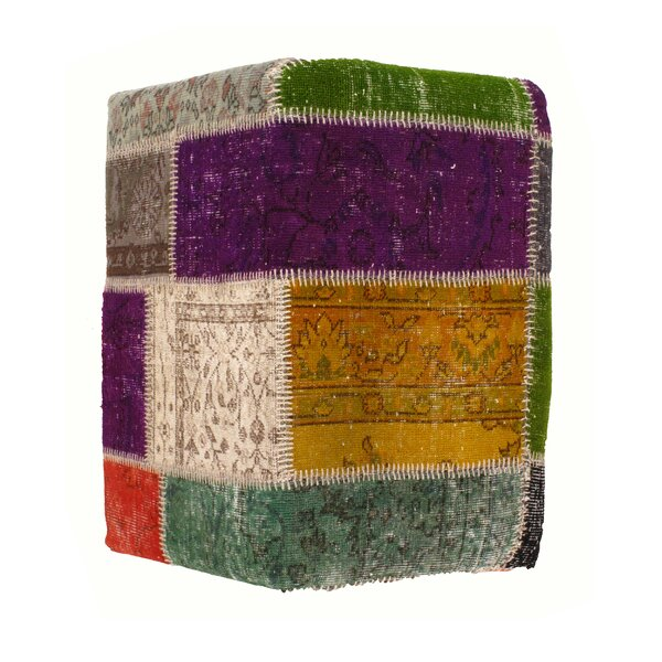 Patchwork Pouf by Pasargad NY