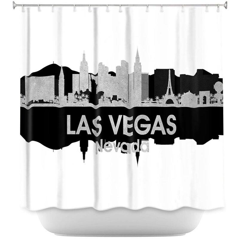 City IV Las Vegas Nevada Shower Curtain