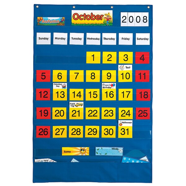 Calendar Wall Pocket Chart by Patch Products