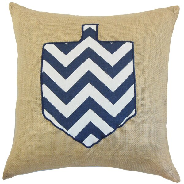 Hanukkah Burlap Throw Pillow by The Pillow Collection