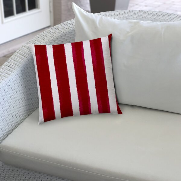 Jeffcoat Indoor/Outdoor Striped Throw Pillow