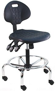 Eco-Friendly Adjustable Cleanroom Lab Waterfall Drafting Chair by Symple Stuff
