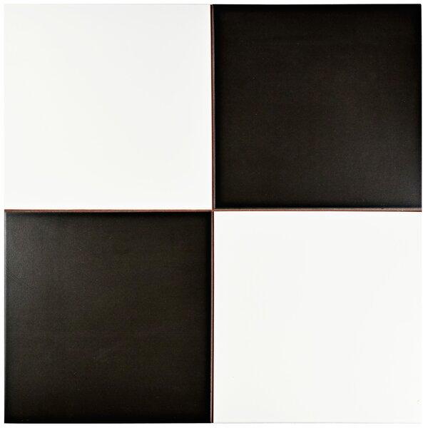 Verifica 17.63 x 17.63 Ceramic Field Tile in Black/White by EliteTile