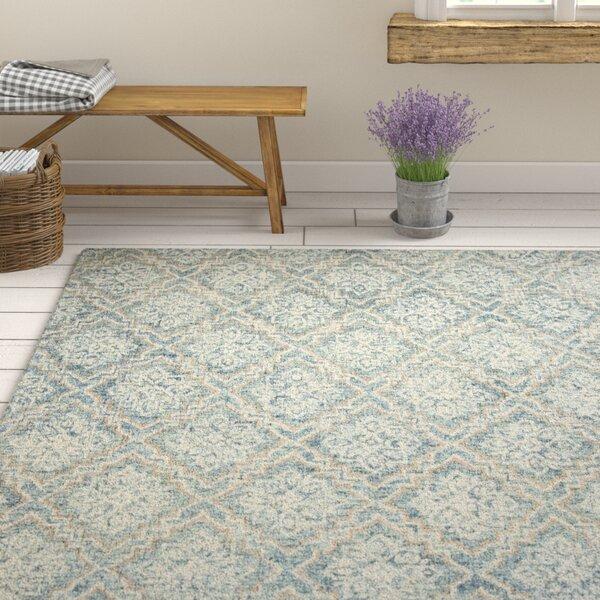 Salerna Hand-Tufted Wool Blue/Gray Area Rug by Ophelia & Co.