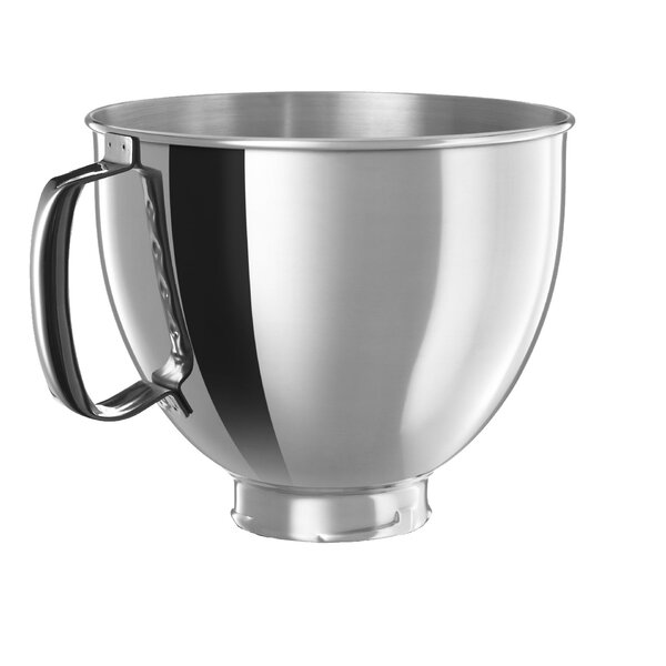 5 Qt. Polished Stainless Steel Bowl with Handle fo