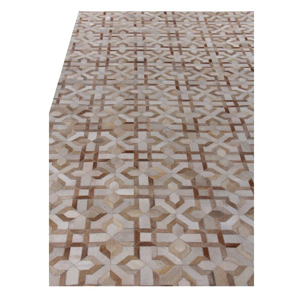 Natural Hide Beige/Ivory Area Rug by Exquisite Rugs