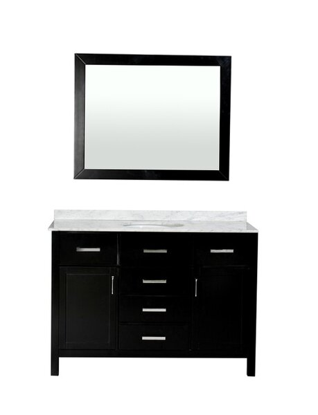 Weatherford 48 Single Bathroom Vanity Set with Mirror by Orren Ellis