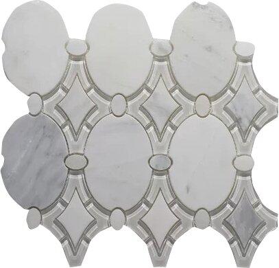 Arabescato Antique P. Wall 12 x 12 Glass Mosaic Tile