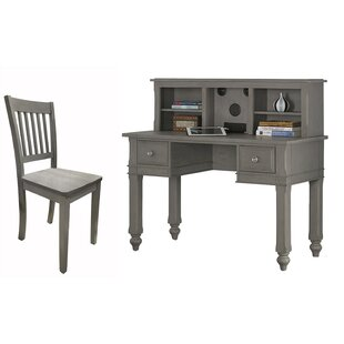 Javin 48 Writing Desk with Hutch and Chair by Harriet Bee