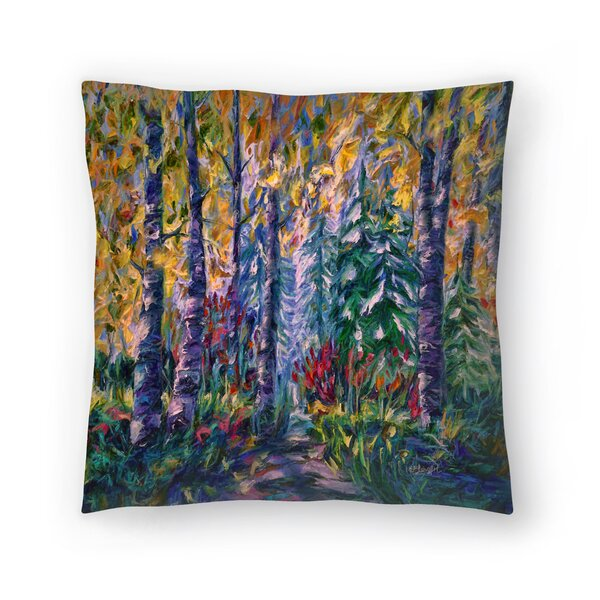 Olena Art Deep in the Woods Throw Pillow by East Urban Home