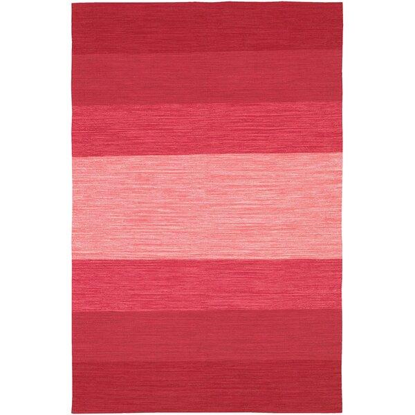 Elbeni Hand-Woven Red Area Rug by Zipcode Design