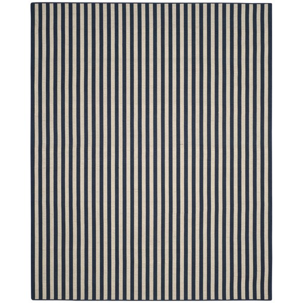 Verde Ivory/Navy Indoor/Outdoor Area Rug by Breakwater Bay