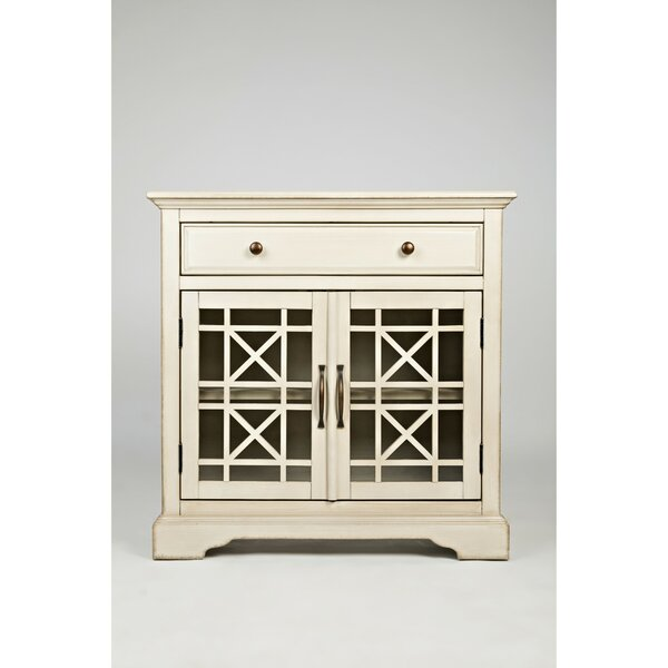 Darrel Fretwork Wooden 2 Door Accent Cabinet by Charlton Home