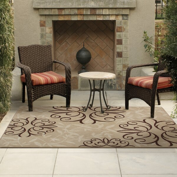 Adrian Whisper Beige Indoor/Outdoor Area Rug by Fleur De Lis Living