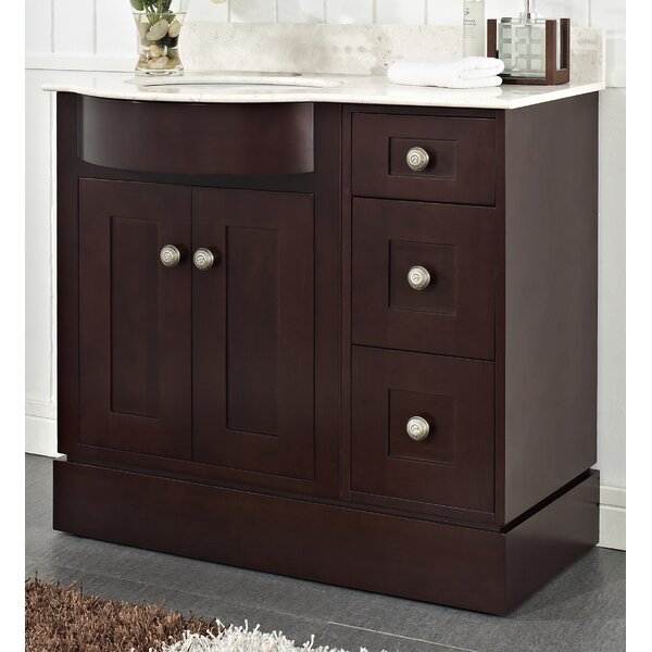 Kester 36 Rectangle Wood Single Bathroom Vanity Set by Darby Home Co