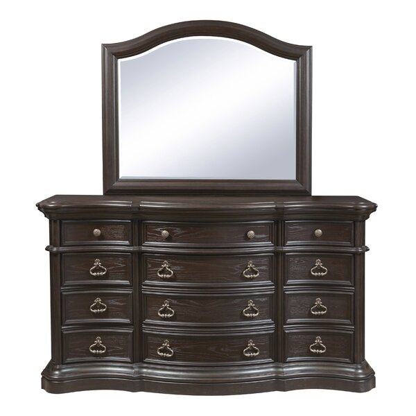 Ikin 12 Drawer Dresser with Mirror by Canora Grey