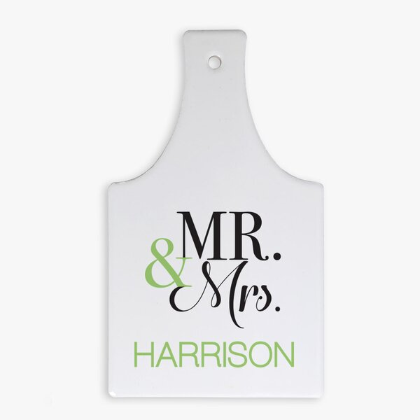 Mr. & Mrs. Custom Bottle-Shaped Hot Pad Trivet by Monogramonline Inc.