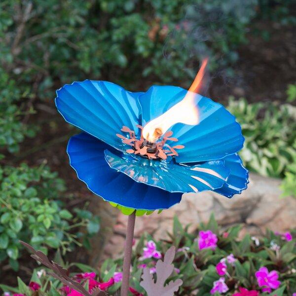 Himalayan Poppy Garden Torch by Desert Steel