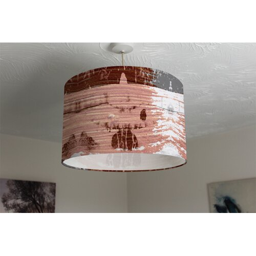 Bird Bath Cotton Drum Lamp Shade Ebern Designs Size: 25cm H