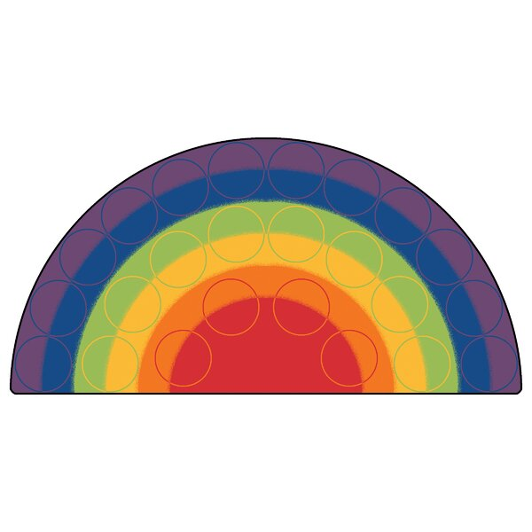 Emerado Rainbow Rows Corner Area Rug by Zoomie Kids