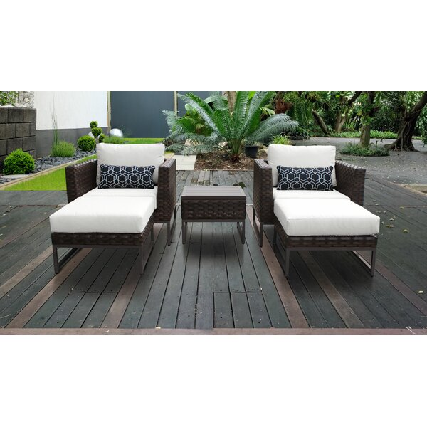 Barcelona Outdoor 5 Piece Seating Group with Cushions by TK Classics
